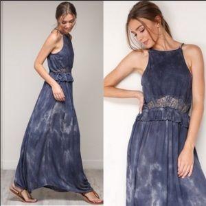 Ombré Blue BOHO Chic Maxi Dress!